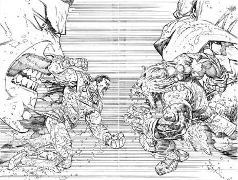 Thragg vs Battle Beast by RyanOttley