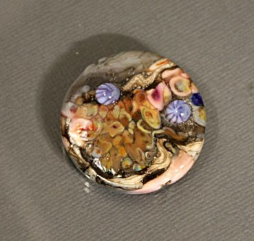 Lampwork Medallion Bead by CopperDancer