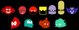 Eggman Empire and crew symbols by Gitzyrulz