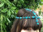 Blue bead headpiece by Drgibbs