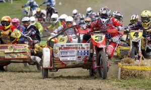Sidecar cross 1st turn @ Langrish by Petrol-Head-Images
