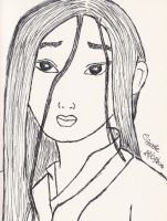 Mulan (ink) by DreAmsCanC0meTrue