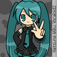 Miku says Peace by aristodemelugix