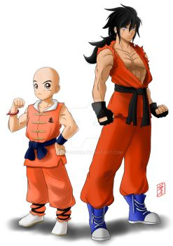 Krillin and Yamcha 23th Tournament redesign by WhysoGurin