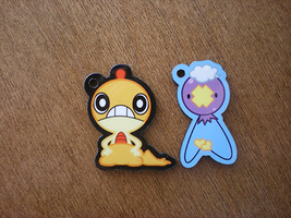 Pokemon: Scraggy and Drifloon Charms by StarryTumble