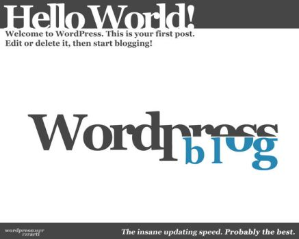 Wordpress Typo by tedmer