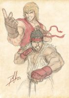 Ryu and Ken II by DHK88