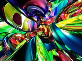 Rainbow Abstract by ZzFOXzZ