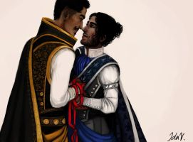 Eirien and Dorian by IdaHarra
