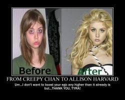 From Creepy Chan to Allison Harvard by FlyingPrincess