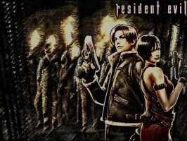 RE4 - Leon and Ada by XxCherokeeRosexX