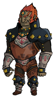 Ocarina of TIme Ganondorf: Wind Waker Style by Decapitated-Kittens