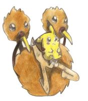 Yellow's Doduo by Nid15