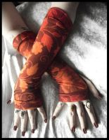 Indian Summer Long Arm Warmers by ZenAndCoffee