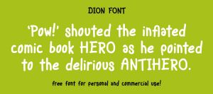 Dion font promo by MartinSilvertant