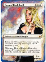 Magic Card Alteration: Hero of Bladehold 8-2 by Ondal-the-Fool