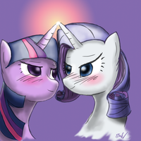 Twilight x Rarity by TheFabledRarity