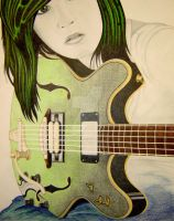 green guitar girl trial by Malici0us