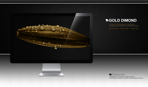 Gold Diamond HD Wallpaper by solutionall