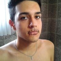 Stitched mouth. by fontenelefx