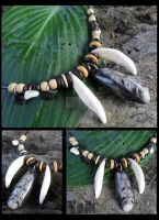 Orthoceras and Coyote Teeth (SOLD) by Shamans-Yoik