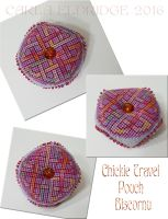 Chickie Travel Pouch Biscornu by Mattsma