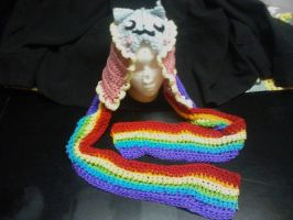 Nyan Cat Scoodie by AbstractAttic