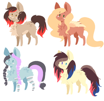 Pony adopts(CLOSED) by fluff-and-jellyadopt
