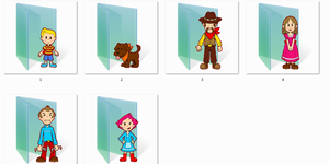 Mother 3 Folder Icons by Ginokami6
