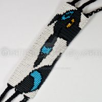 Shiny Umbreon 1.5 inch Friendship Bracelet by CarrieBea