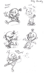 King Candy Sketches by Mickeymonster