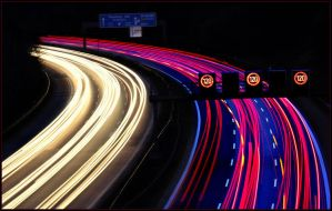 Highway at night II... by MichiLauke