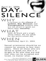 Day of Silence Flyer by dureku