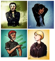 Commission: Mass Effect Shepard Busts by FlockofFlamingos