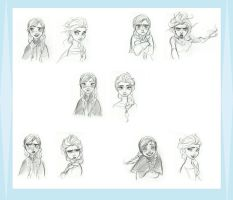 Disney Frozen Sisters Concept Match-ups Art by werewolf-dragon