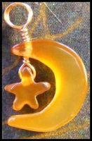 Star and Moon Pendant by BacktoEarthCreations