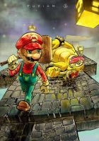 Mario x Bowser by TJFuZioN