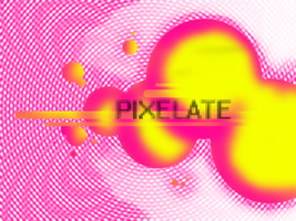 ATE the halftone : pixelate by zer01-expo