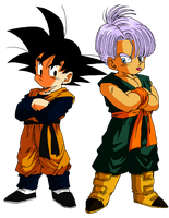 goten and trunks vector by Ninja-pineapple