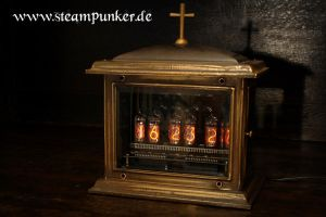 steampunk nixie clock roehrenuhr uhr by steamworker