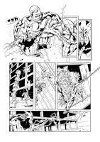 Marvel Heroes 6 Spidey Pg4 ink by IanDSharman