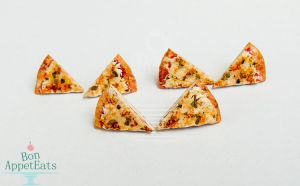 Pizza Slice Post Earrings by Bon-AppetEats