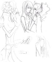 Black Vow RinoaxTerra Sketches by IllusionedTime