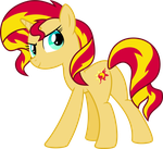 Sunset Shimmer (Human Color, No Saddlebag) by ChainChomp2