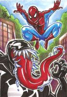 Spiderman and Venom by mainasha