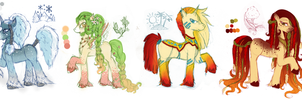 Adoptable - Seasons Ponies - Two Left - by tinuleaf