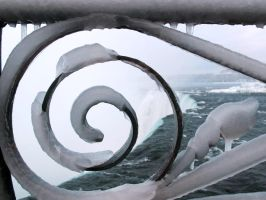 Winter Postcard from Niagara 3 by Nariane