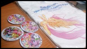 MLP Pin badge and t-shirt by JinZhan