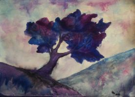 Landscape (watercolor) by AlexandraDart