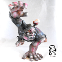 Zombie Abe Lincoln Raw Paw by FullerDesigns